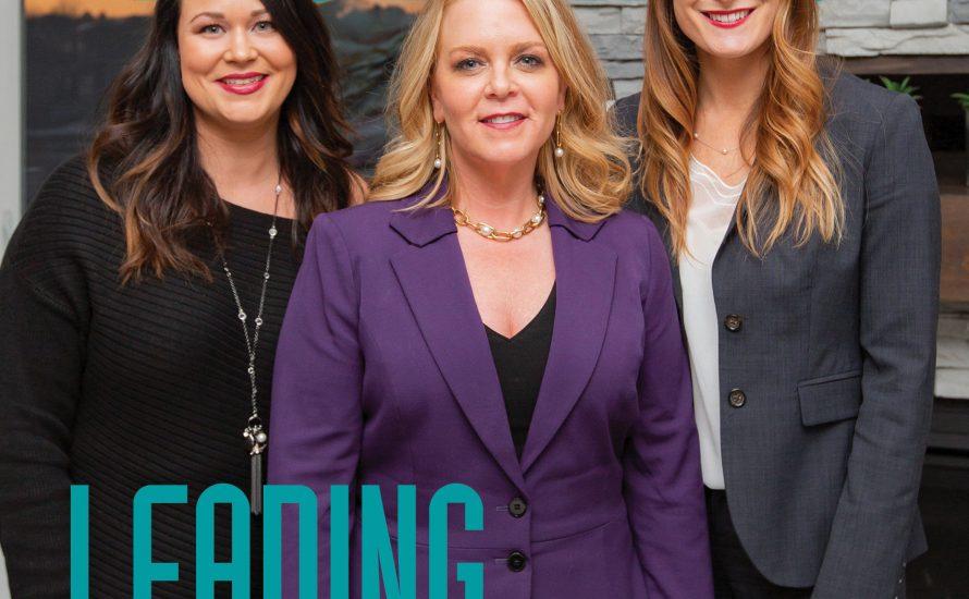 Three women standing